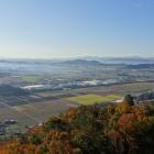 観音寺城跡の大石垣からの景色