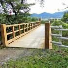 本郭への木橋