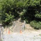 富士見櫓跡に登る階段