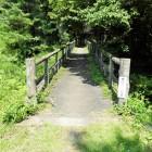 正坫門跡と木橋