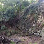 さざれ石の大石と古い石垣