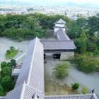 天守閣からの眺望(鉄門方面)