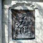 レリーフ(朝鮮出兵の図)