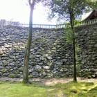 本丸下の高石垣