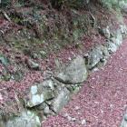 大手道、東の丸Ⅰ下の石垣