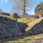 中川民部屋敷跡東面の石垣