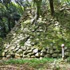 南の丸隅櫓跡石垣(南側)継ぎ足した跡あり