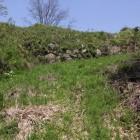 石垣が残る大御殿と二の丸の堀