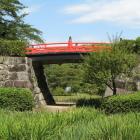 常盤木橋(左が本丸)