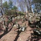山王丸南側の崩れた石垣
