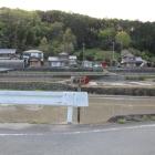 坂内川より大河内城を見る、西山手が城跡