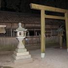 内部の竹神社、参拝