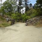 西曲輪南側枡形虎口の石垣