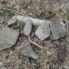 二の丸で拾い集めた陶器破片