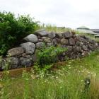 清洲古城公園に復元された野面積み石垣