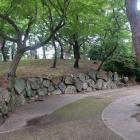 天守台南側の石垣