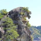 世界遺産熊野古道の一部「獅子巌」
