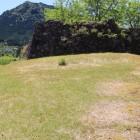 北郭内部、石垣は本郭Ⅰの北面の石垣