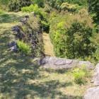本郭北面の横矢の張出、石垣