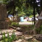畑の辺りの石碑と説明板