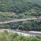 谷瀬のつり橋