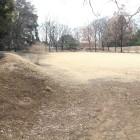 1の曲輪横堀土塁から2の曲輪内部を見る