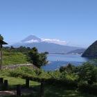 富士山と相模湾を望む