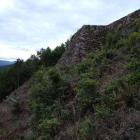 山降りる前くらいの後ろの石垣