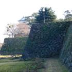見事な屏風折石垣