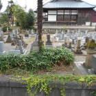 墓地が堀跡
