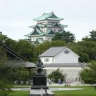 名古屋城④(名古屋駅に帰る途中の歩道橋より)