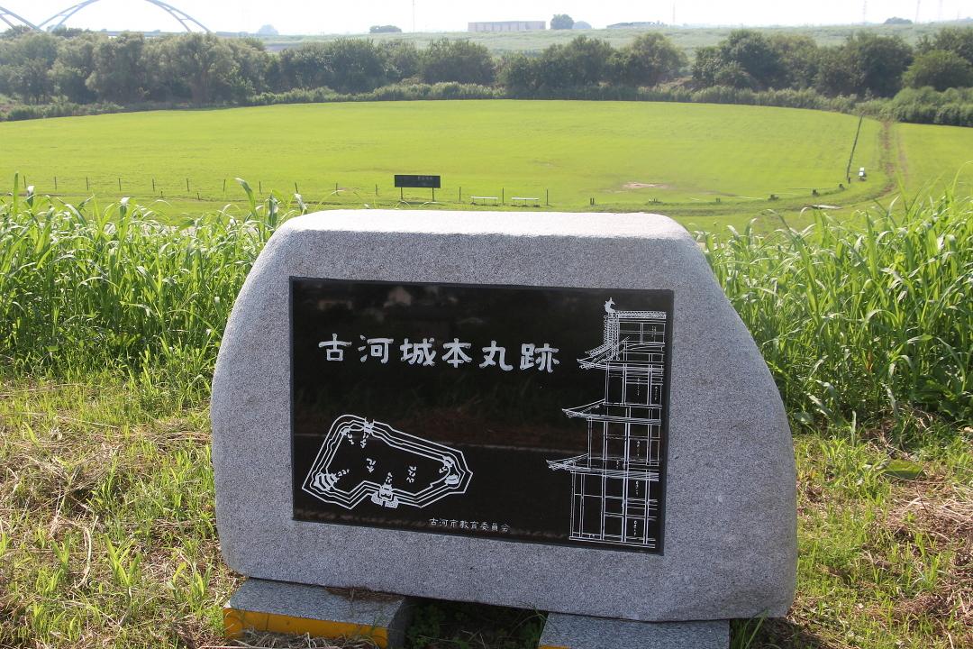 本丸跡(石碑の位置は菱櫓跡付近)