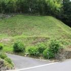 西高木家屋敷北側の土塁と石垣